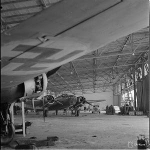 7.3.1940 Tikkakoskella Lent.laiv.46. Keskihalli.