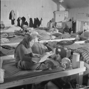 Evakkoja Kotkassa ja Heinolassa marraskuussa 39.