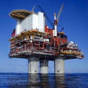 Norsk oljeborrningsplattform i Nordsjön