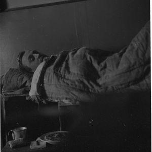 Vangittu ryssien tiedotusosaston päällikkö haavoittuneena JSPssä Er.P. S. 26-12-39.