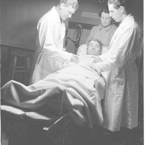 11.2.1940 Ruotsalaisten kenttäsairaala Kemijärvellä.
