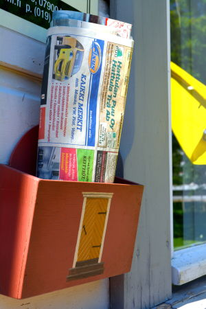 Miniatyrdörr på postlåda