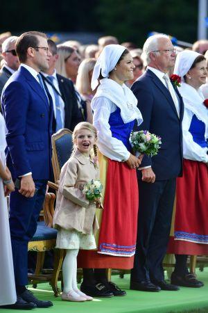 40-åriga prinsessan Victoria firades i Borgholm på Öland den 14 juli 2017.