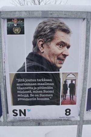sauli niinistös presidentvalsaffisch