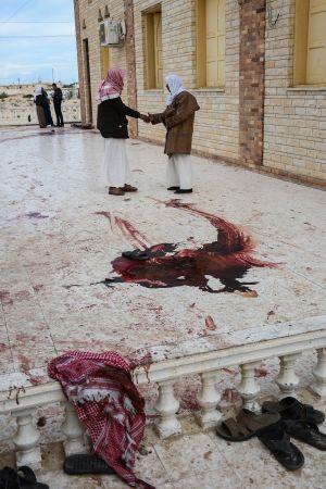 President Abdel Fattah al-Sisi efter en terrorattack mot en moské på Sinaihalvön i november. Terrordådet som var det värsta i landets historia krävde över 300 dödsoffer