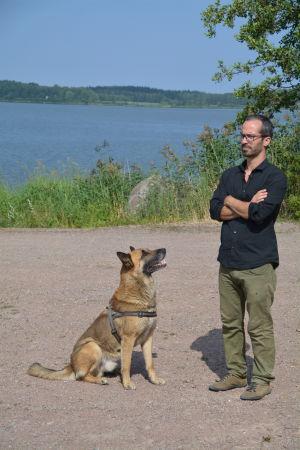 Antonio Arosa och hans hund