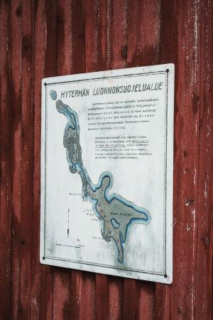 Gammal karta över öarna Suuri-Hytermä och Pieni-Hytermä samt Laviasaari.