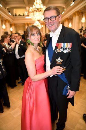 Matti Vanhanen och Heidi Huhtamaa