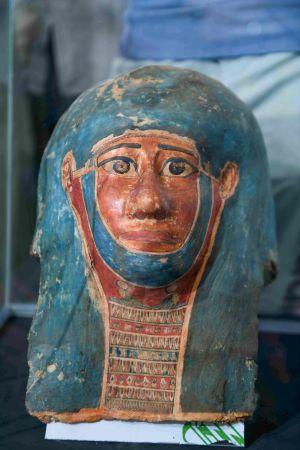En begravningsmask. Presenterades 14.11.2020 i Egypten.