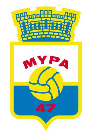 Klubbemblemet för MyPa från Anjalankoski.