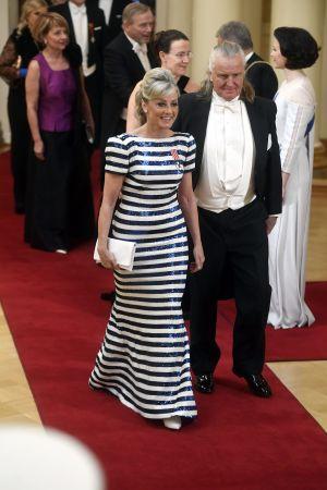 Riksdagsledamot Ritva Kike Elomaa (Sannf) med sin man Kimmo Elomaa