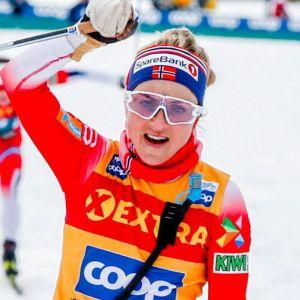 Therese Johaug firar.