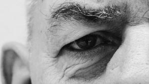 Leif Salméns öga i närbild.