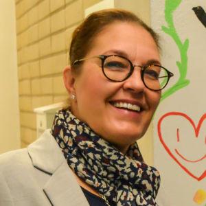 Sari Gustafsson, rektor för Point College i Borgå