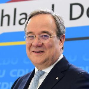 Kristdemokraternas partiledare Armin Laschet i Berlin den 30 mars 2021.