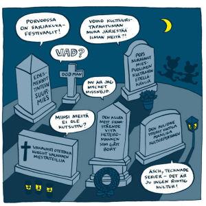 Kaisa Lekas tanke om hur gamla kulturmän reagerar om serieteckningsfestivalen