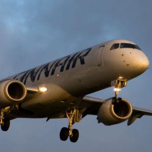 Ett Finnair-flygplan.