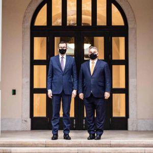 Mateusz Morawiecki och Viktor Orbán i Budapest 26.11.2020