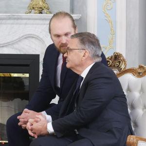 Aleksandr Lukasjenko och René Fasel.