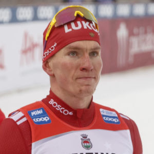 Aleksandr Bolsjunov efter målgången i Lahtis.