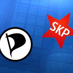 Piratpartiets och FKP:s logotyper