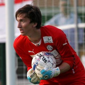 Karl-Filip Eriksson i farten för VPS säsongen 2014.