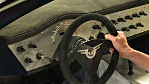 Knapparna för instrumentpanelen är utskrivna med en 3D-printer.