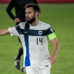 Tim Sparv under landskamp mot Bosnien-Hercegovina 2021.