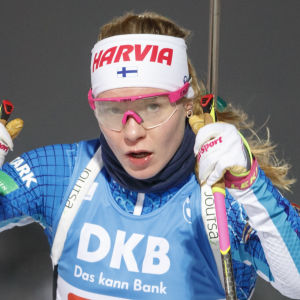 Suvi Minkkinen i världscupen 2020 i Kontiolax.