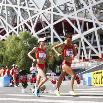 Liu Hong vann VM-guld på 20 km gång 2015