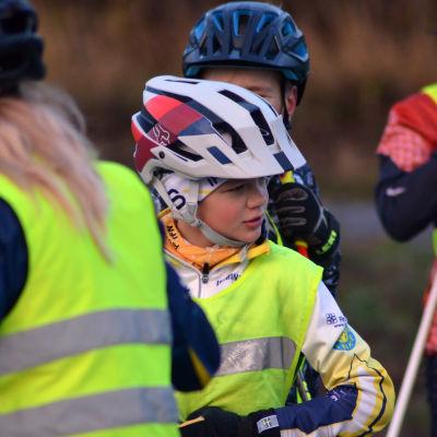 Deltagare på Skidtalang-läger i Vörå.