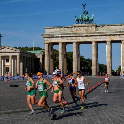 Maratonlöpare i Berlin.