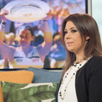 Marion Bartoli har gjort tv-karriär efter segern i Wimbledon.