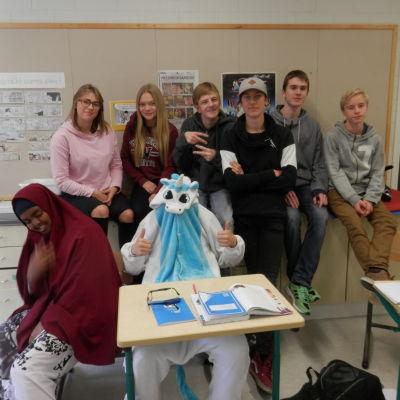 Åk 9 i Oxhamns skola i Jakobstad