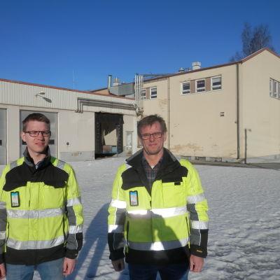 Operativa chefen  Samuel Hjulfors och vd Christian Grankulla vid Nordic Byggtjänst