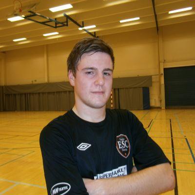 ESC:s Simon Eklund gjorde ett och assisterade till två mål på lördagen.