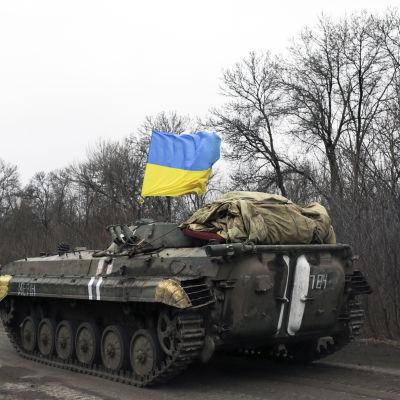 Ett ukrainskt trupptransportfordon