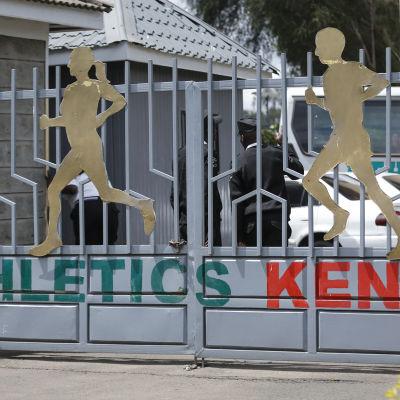 Bild på friidrottsförbundets lokaler i Kenya.