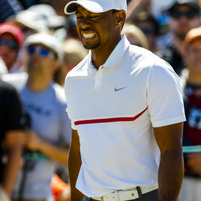 Tiger Woods hade stora problem vid US Open.