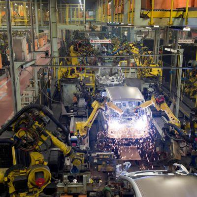 Arkivbild från november 2014 från Nissans fabrik i Sunderland, i nordöstra England.