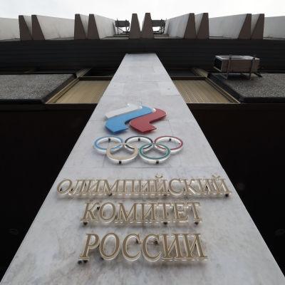 Bild utanför Rysslands olympiska kommitté.
