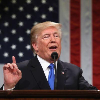 Donald Trump håller tal till nationen den 30 januari 2018.