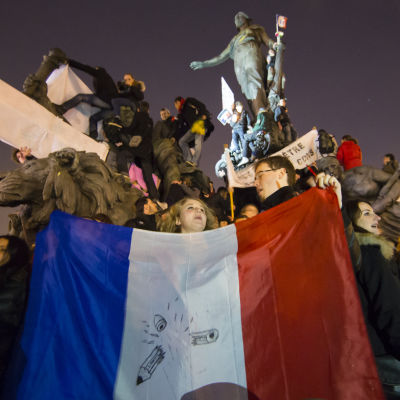 demonstration mot terror i paris (charline hebdo)