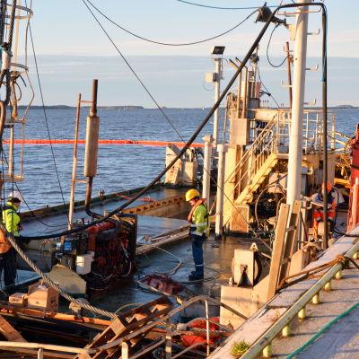 Borrplattformen Esko i Vasa hamn.