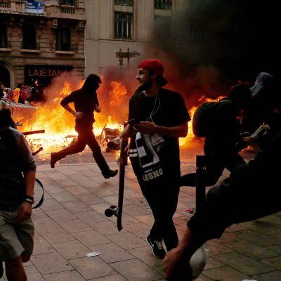 Demonstration i Barcelona 18.10.2019
