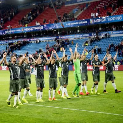 Tyskland firar segern över Norge i Oslo.