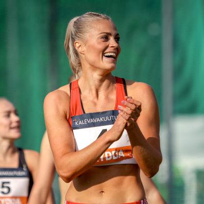Lotta Harala Kalevan kisoissa vuonna 2020.