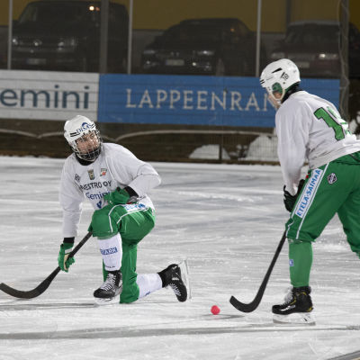 Lappeenrannan Veiterän Tuukka Loikkanen joukkueen harjoituksissa.