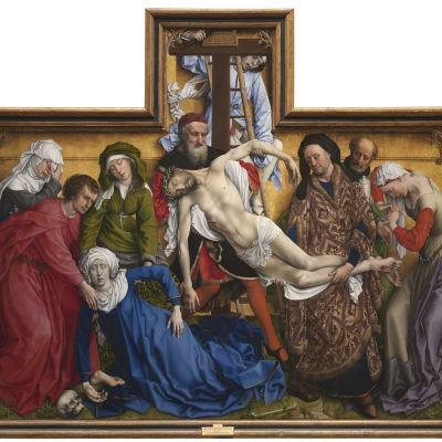 """Rogier van der Weydenin maalaus """"Kristuksen ristiltäotto"""""""
