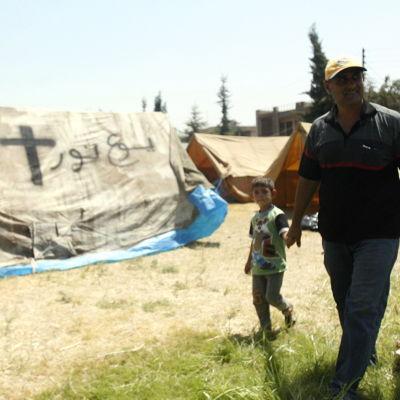 Kristna flyktingar i kurdområdet i norra Irak.